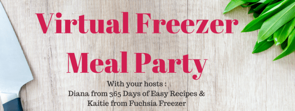 virtual freezer meal party on Facebook