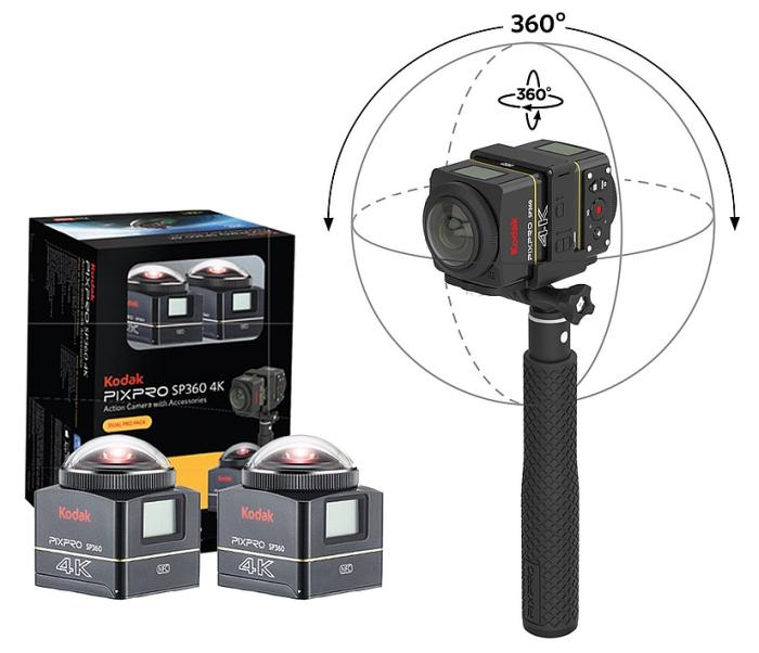 kodak 4k pixpro sp360 camera