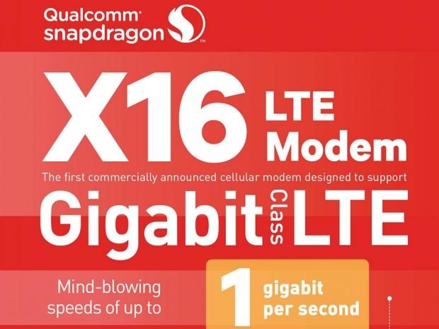 Qualcomm demonstrates 1Gbps X16 modem