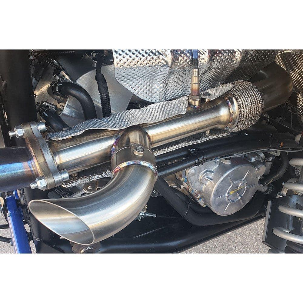 evo rzr xp turbo shocker electric side dump exhaust