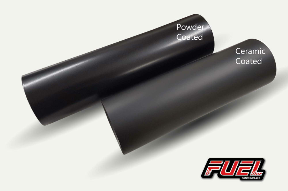 ceramic black exhaust surface coating