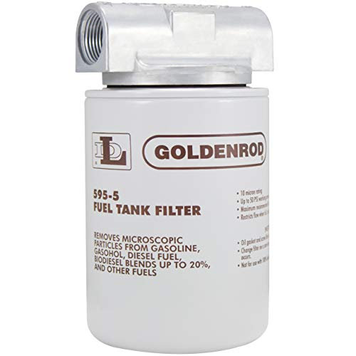 Bowl Fuel Tank Filter with 3//4 NPT Top Cap GOLDENROD 495-3//4