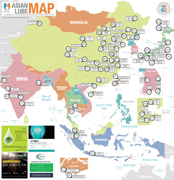 F+L Asian Lube Map 2019