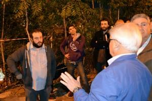 Zapata, con miembros de la AV Peñagrande el viernes 30 de octubre.