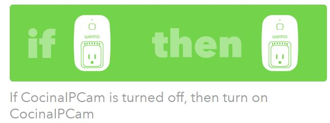 IFTTT WeMo turn on