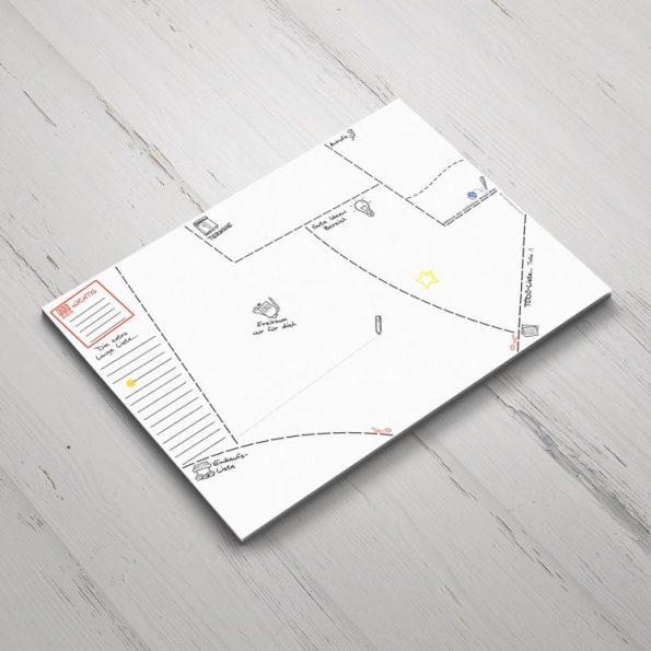 Schreibtischunterlage Sketch | Fünf vor Zehn