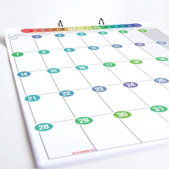 Tischkalender Pünktchen| Fünf vor Zehn