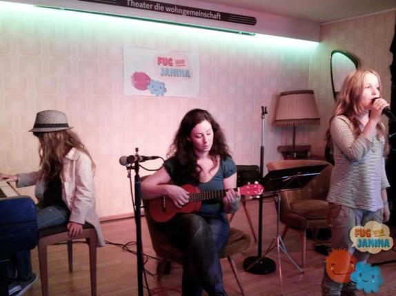 Flora, Janina und Rosa als Spontan-Trio
