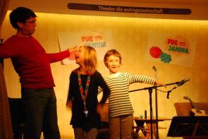 Impro-Gäste auf der Bühne