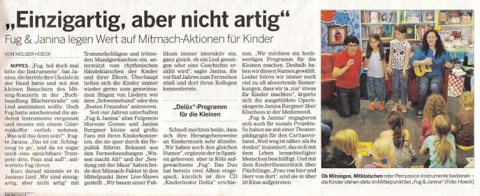 Kölnische Rundschau 07.07.2015