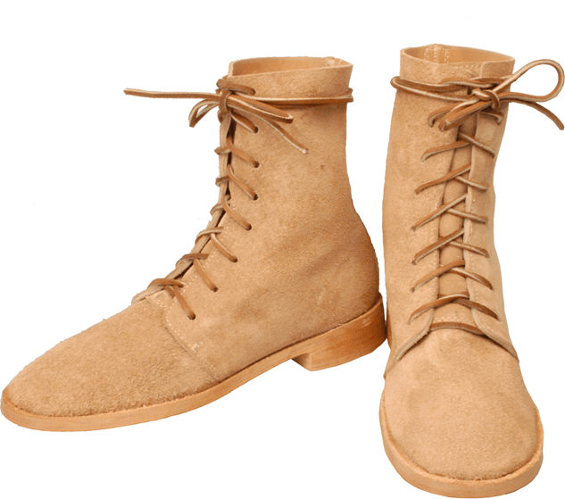 Hi-Low Trekkers, natural rough-out leather