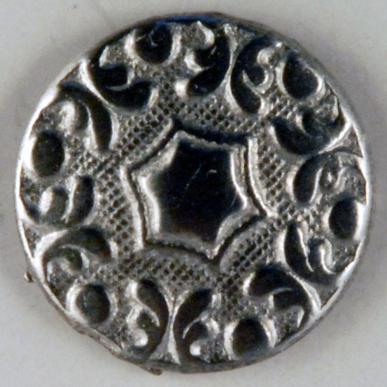 161 Hex design Pewter Button