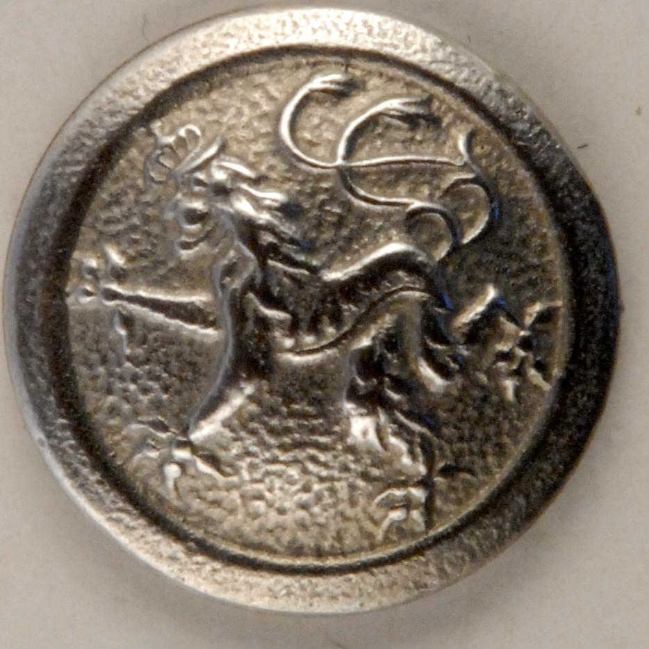169 Rampant Lion Pewter Button