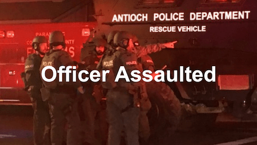 Antioch Police Officer Assaulted