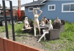 Man put up a Display of Nude Mannequins