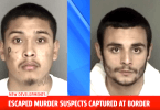 Escapees are captured at the US Mexico Border Crossing