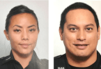 Honolulu Police Officers Tiffany Enriquez and Kaulike Kalama