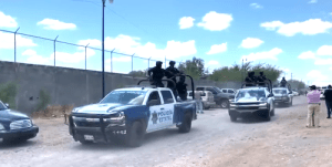 Mexican state police vehicles