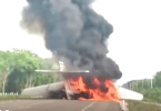 Drug Cartel Jet Burns After Landing on Road Caught on Camera
