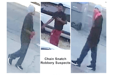 ID #20-232 Alleged robbery suspects