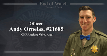CHP Officer Andy Ornelas Dies After Crash in Antelope Valley