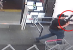 Allegedly suspect armed with assault rifle.