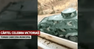 Alleged cartel armored tank