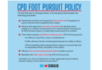 Chicago police foot pursuit policy