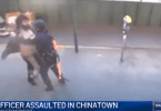 Female Police Officer Allegedly Attacked Caught on Camera