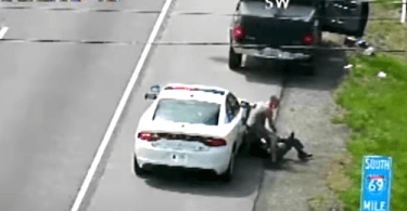 Suspect Allegedly Steals State Police Car Caught on Camera