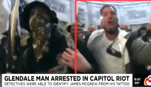 Arizona Man with Tattoo Arrested in Connection with Capitol Insurrection