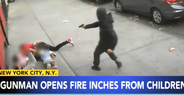 SHOCKING VIDEO: Kids dive for cover in brazen broad daylight shooting caught on video