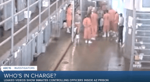 Arizona prison video shows inmates trap officers in stairwell