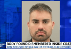 Man Arrested for Allegedly Murdering His Elderly Mother, Dismembering Her Body