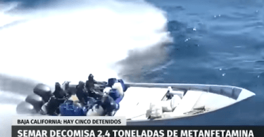 Nearly two and a half tons of methamphetamine seized in Baja California