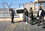 U.S. Border Patrol agents handing over deported Mexican national wanted for murder to Mexican authorities. Credit U.S. Border patrol.