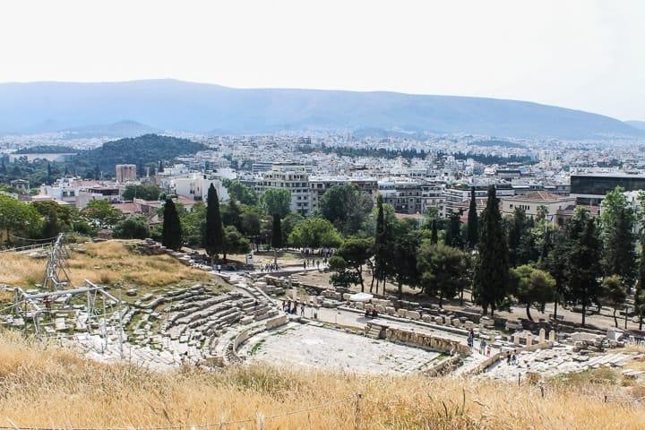Teatro de Dionísio - Acrópole de Atenas