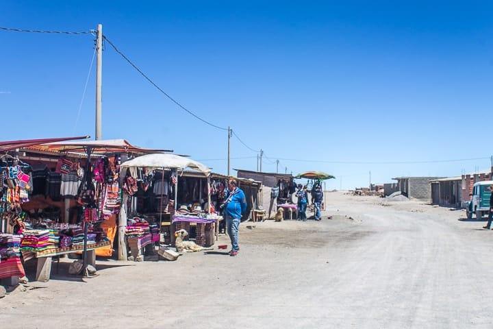 Primeiro dia no Salar de Uyuni - povoado de Colchani