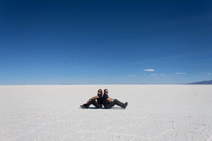 Primeiro dia no Salar de Uyuni - deserto de sal na Bolívia