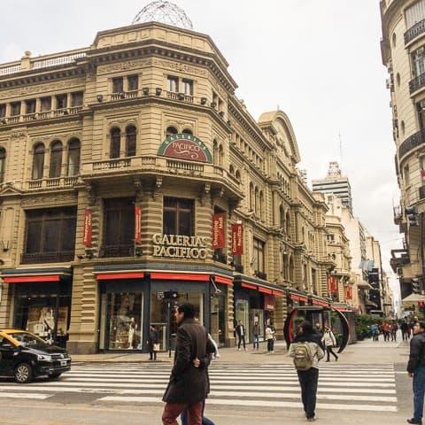 Compras em Buenos Aires, Calle Florida. Buenos Aires além do básico - Roteiro de 5 ou 7 dias em Buenos Aires