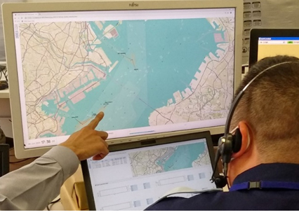 Evaluation by operation controller at the Tokyo Wan Vessel Traffic Service Center