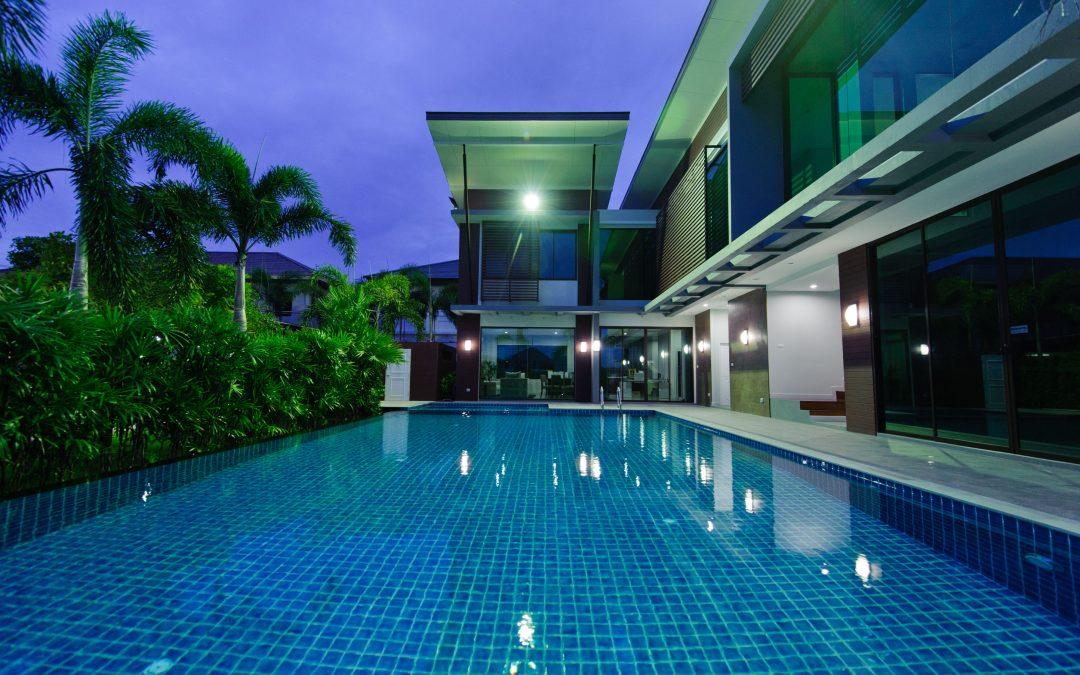 modern pool tile designs mosaic