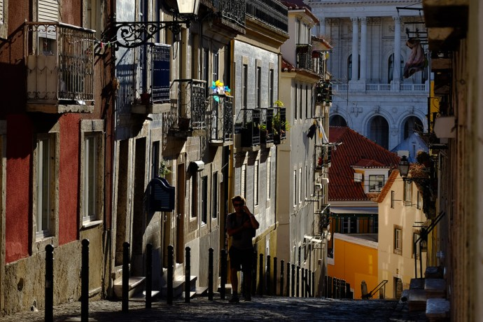 Late light in Lisbon with the 55-200mm. Velvia film simulation, JPG straight from camera.