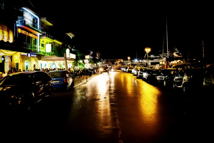 Fujifilm X-Pro1 + XF 18mm, F2.0, ISO 2000, 1/30 sec, hand-held. Zante City, Zakynthos, Greece.