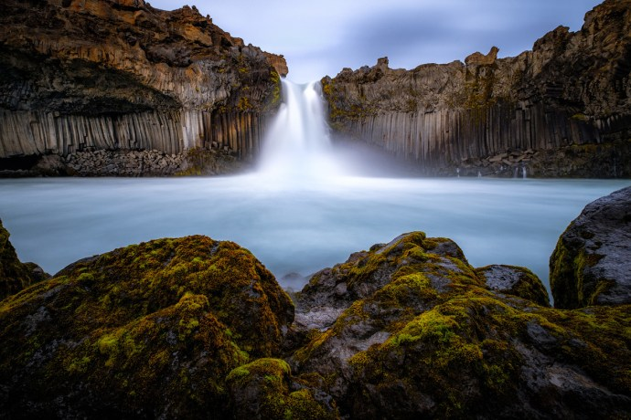 Aldeyjarfoss - at the bottom of the waterfall, 10mm F8 30s iso200 - ND filter