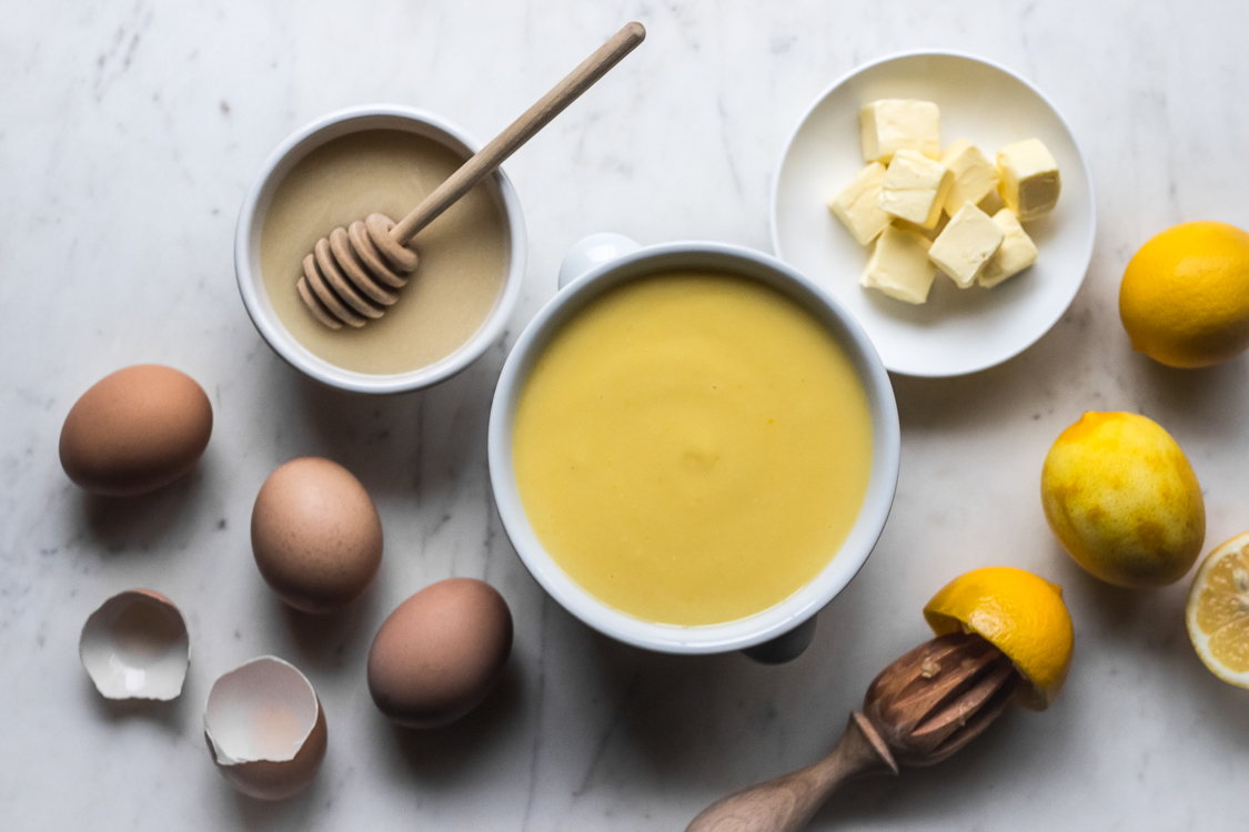 honey sweetened meyer lemon curd
