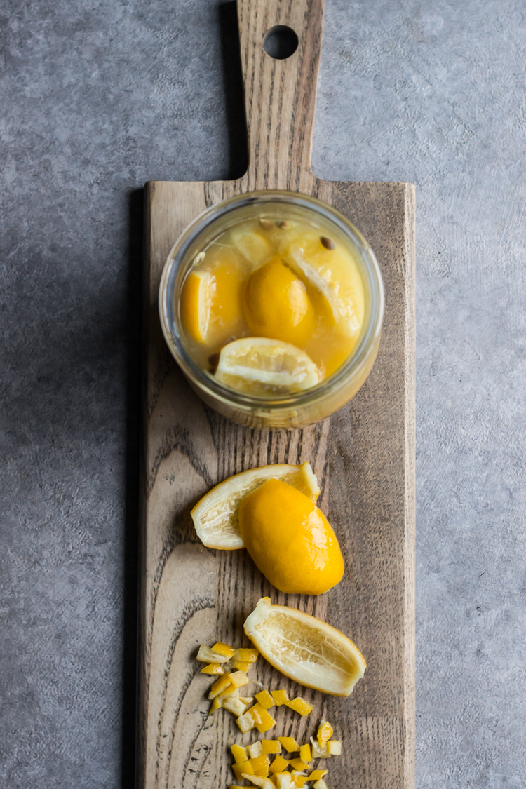 oven roasted preserved lemon chickpeas