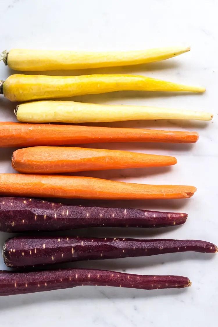 carrot, feta & pistachio salad with orange blossom toss