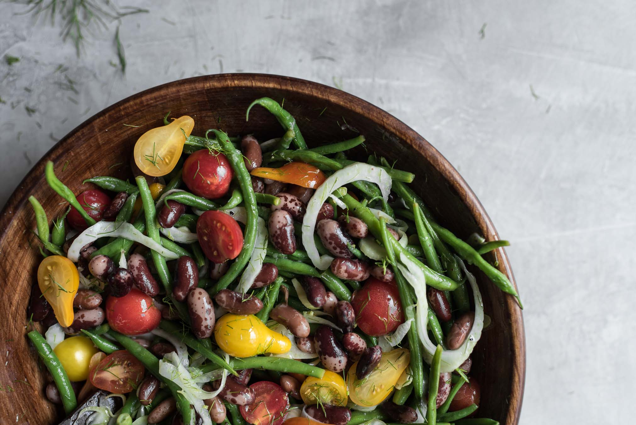 heirloom cattle bean summer salad