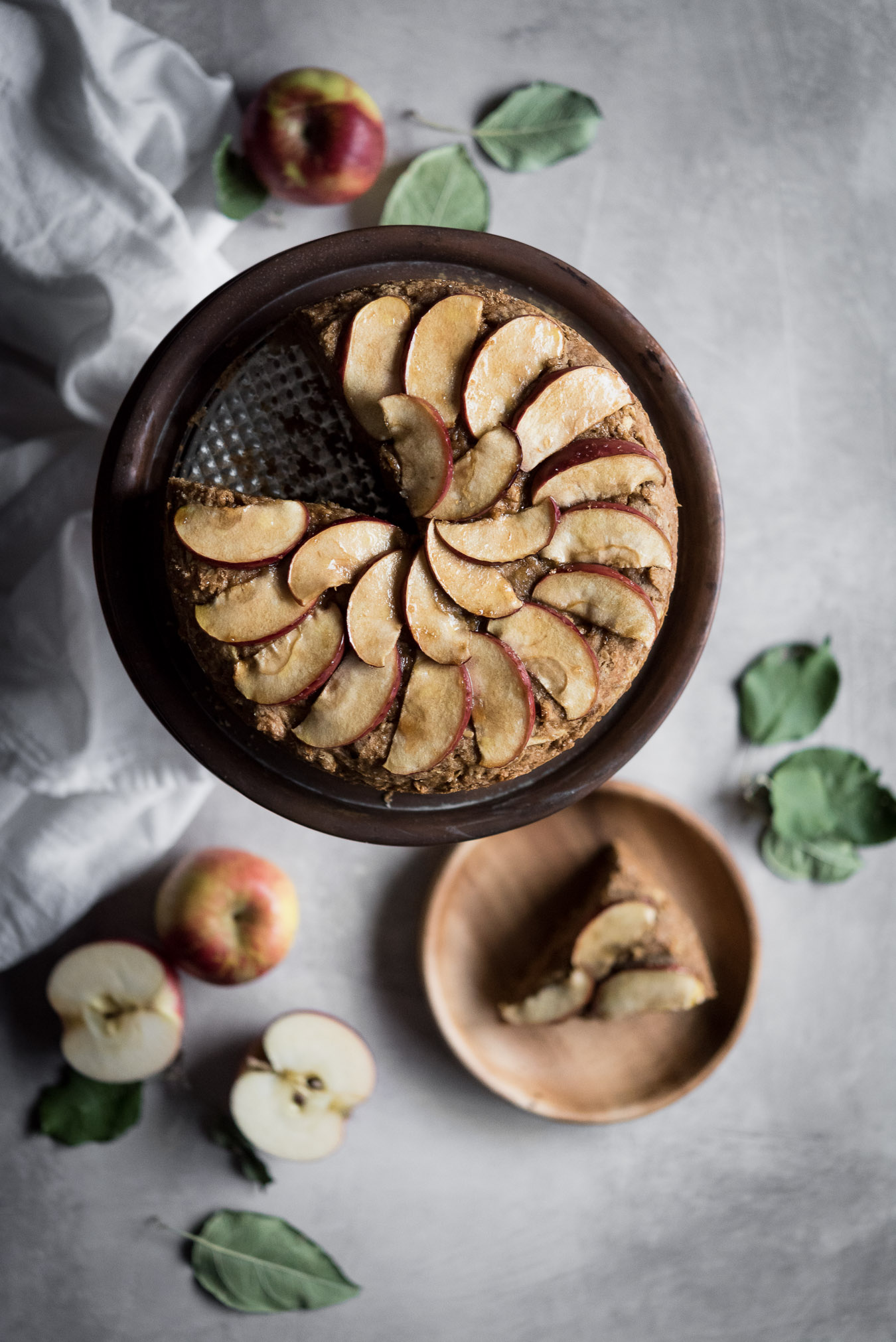 milopita - greek apple & olive oil cake